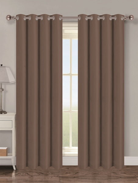 Twilight Thermal Blackout Grommet Panel - Panel   054x063 Chocolate C40346- Marburn Curtains