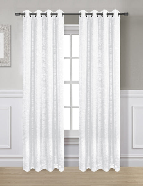 Twilight Thermal Blackout Grommet Panel - Panel   054x063 White C40360- Marburn Curtains