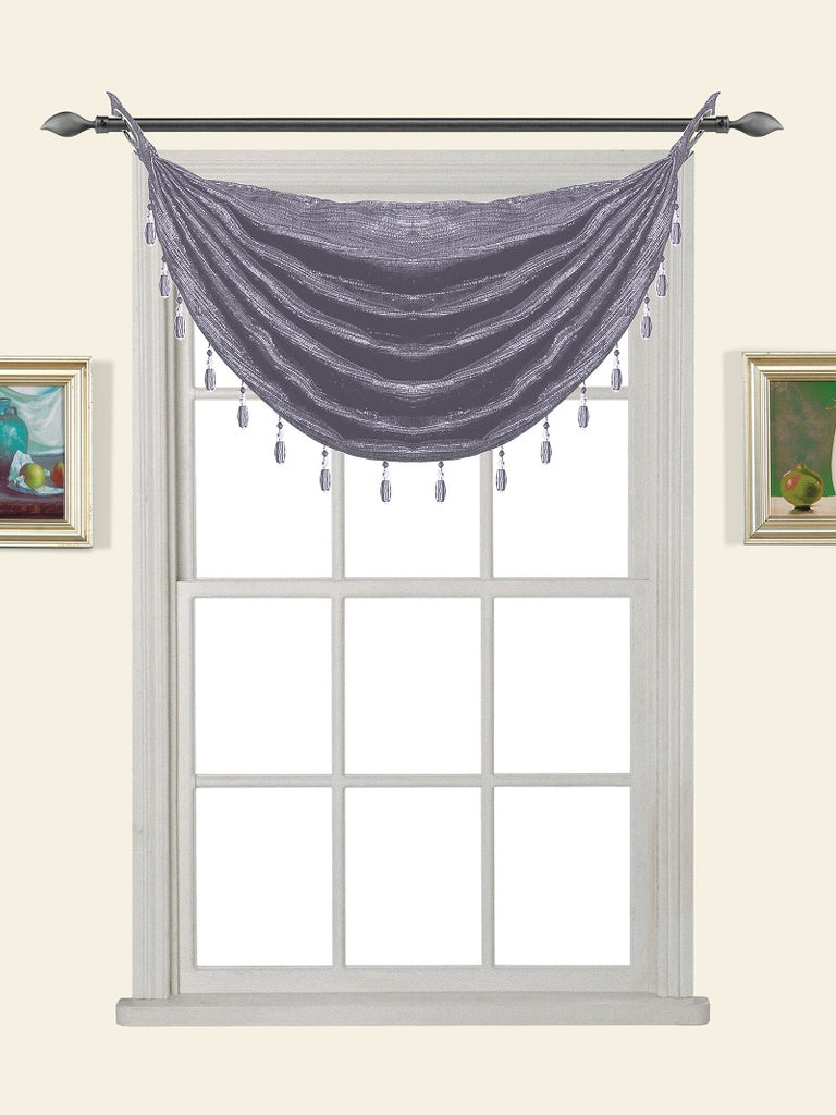 Glitter Waterfall Valance w/Beads