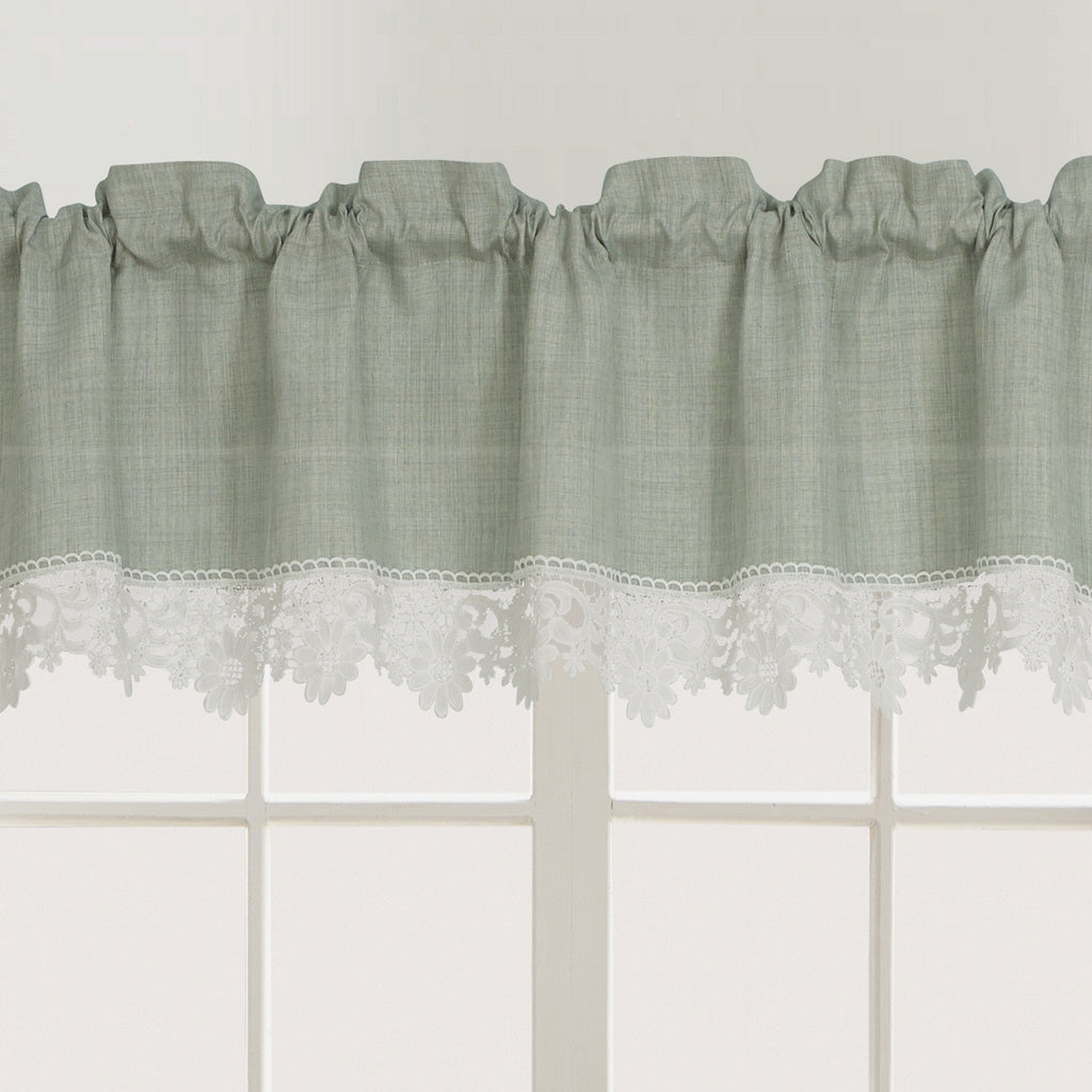 Nancy Rod Pocket Lace Trimmed Valance