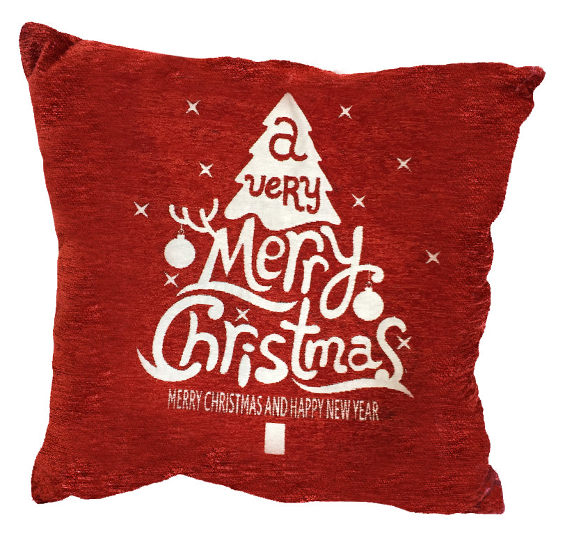 "Santas Flakes Decorative Holiday Toss Pillow 18""x18"""