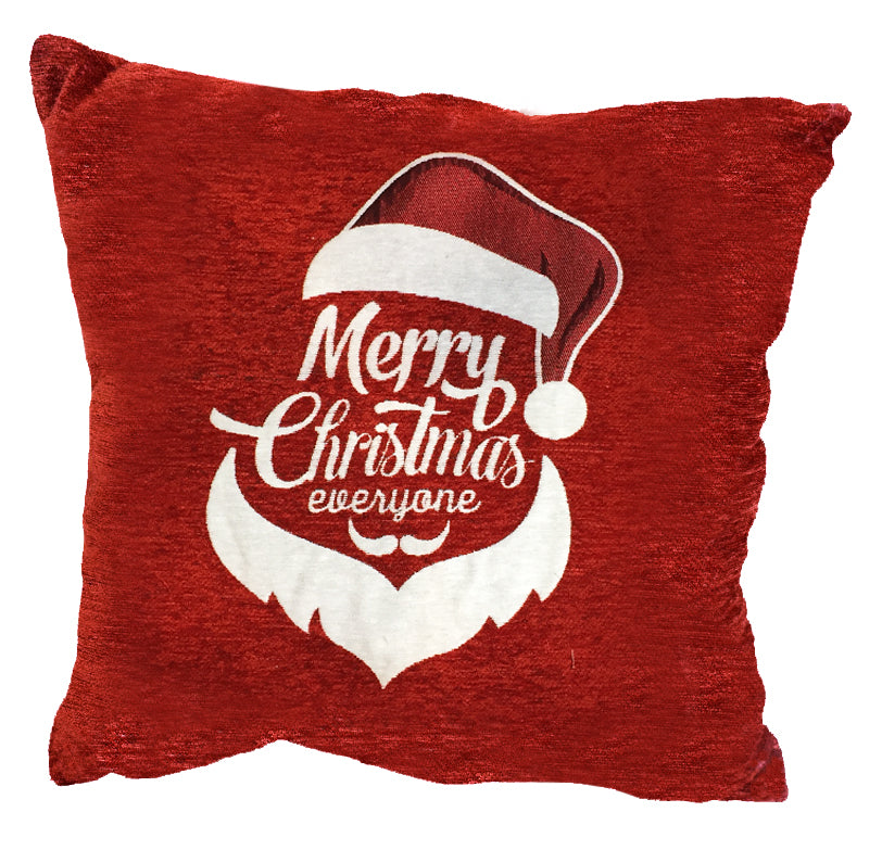 "Santa Hat Decorative Holiday Toss Pillow 18""x18"""