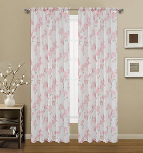 Sheffield Rod Pocket Panel - 054x084   Rose  C42917- Marburn Curtains