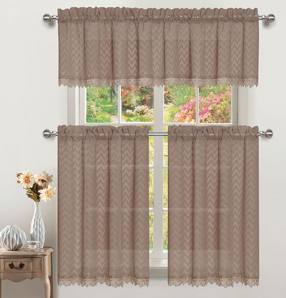 Chiffon Rod Pocket Valance - - Marburn Curtains