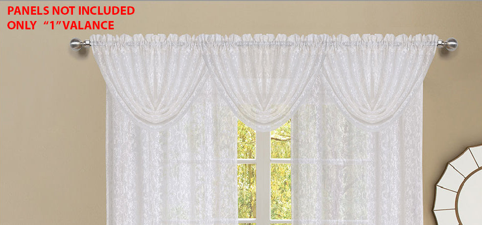 Mirage Rod Pocket Waterfall Valance