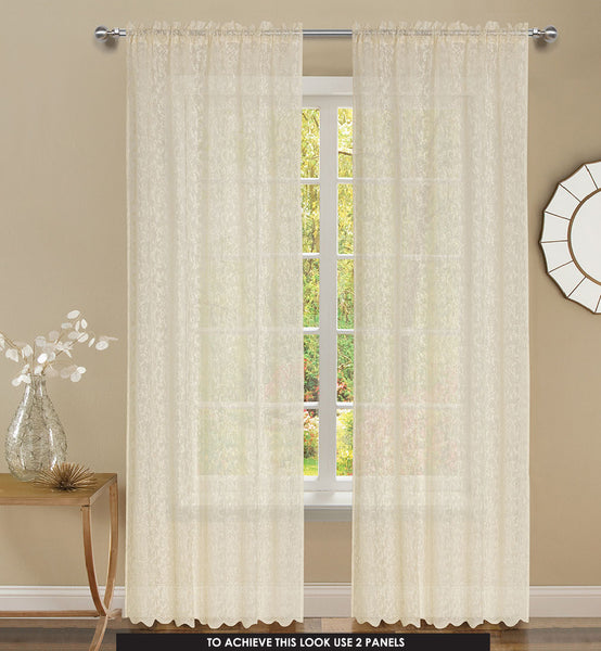 Mirage Rod Pocket Panel - 056x084   Beige C43929- Marburn Curtains
