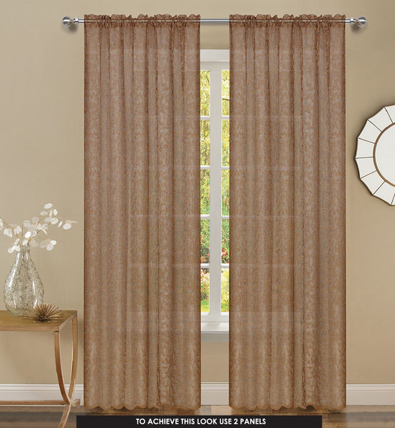 Mirage Rod Pocket Panel - 056x063   Copper C43927- Marburn Curtains