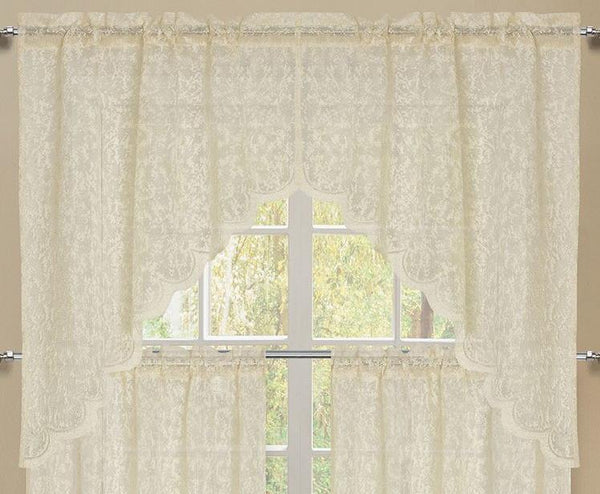 Mirage Rod Pocket Swag - 056x038   Beige C43944- Marburn Curtains