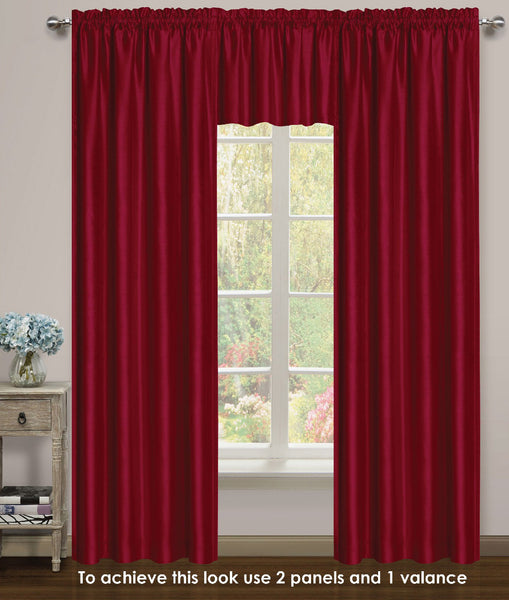 Elite Rod Pocket Lined Panel - 054x063   Burgundy C43733- Marburn Curtains