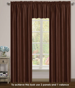 Elite Rod Pocket Lined Panel - 054x063   Chocolate C43734- Marburn Curtains