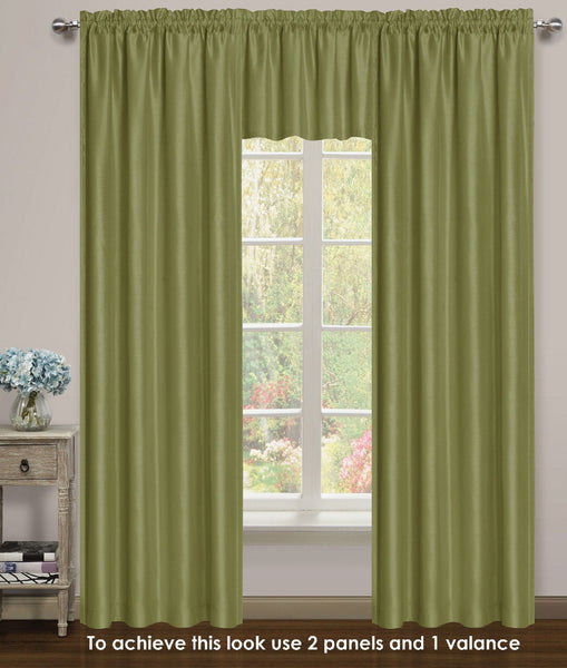 Elite Rod Pocket Lined Panel - 054x063   Sage C43736- Marburn Curtains