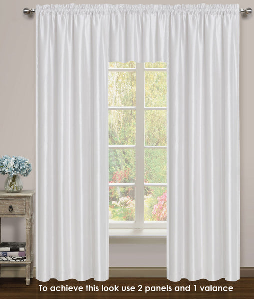 Elite Rod Pocket Lined Panel - 054x063   White C43737- Marburn Curtains