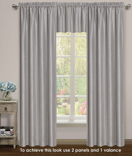 Elite Rod Pocket Lined Panel - 054x063   Silver C43739- Marburn Curtains