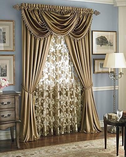 Hilton Rod Pocket Panel/Waterfall Valance - Panel Antique 054x084 c27953- Marburn Curtains