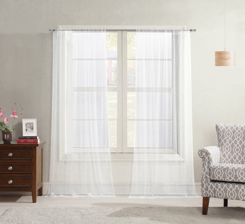 Allure Sheer Rod Pocket Panel - - Marburn Curtains