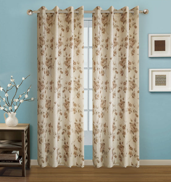 "Arabella Grommet Panel 84"" - 054x084 Gold C42675- Marburn Curtains"