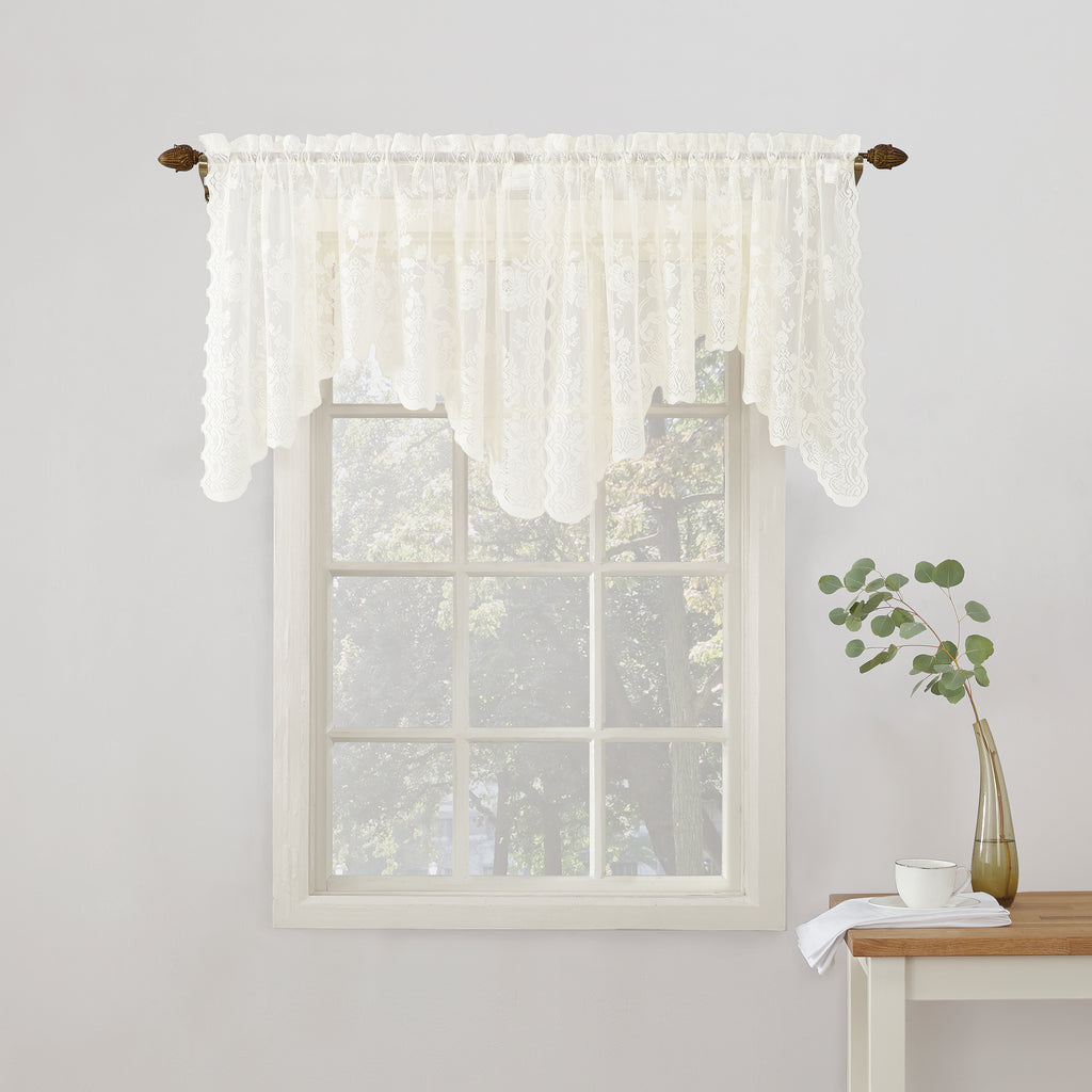 Alison Rod Pocket Lace Swag Valance