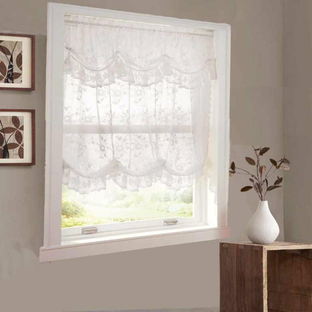 alison lace balloon shade wattached queen anne valance