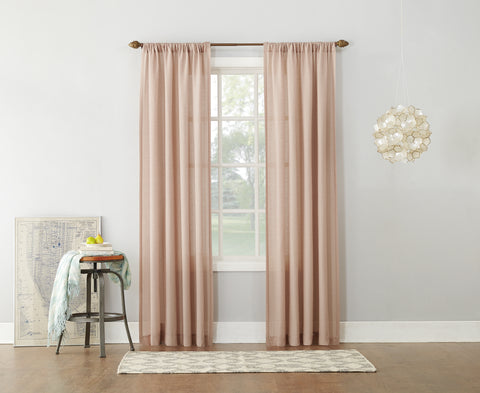 Amalfi Rod Pocket Panel - 054x063 Blush C42459- Marburn Curtains