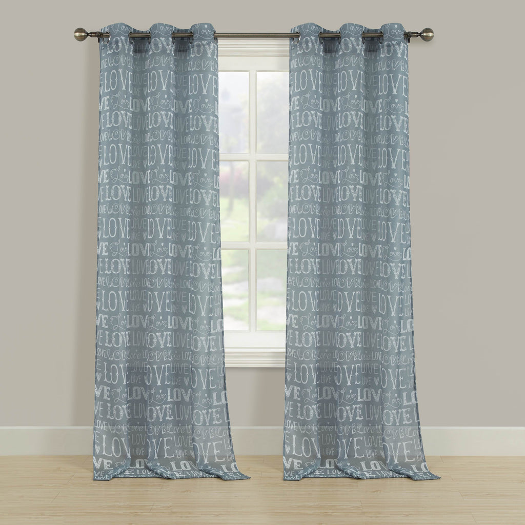 Amour Semi-Sheer Print Grommet Panel
