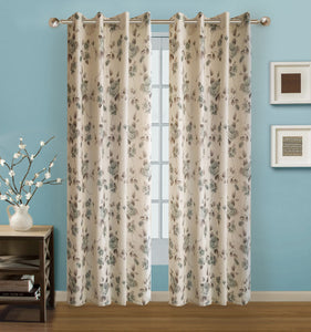 "Arabella Grommet Panel 84"" - 054x084 Green C42674- Marburn Curtains"