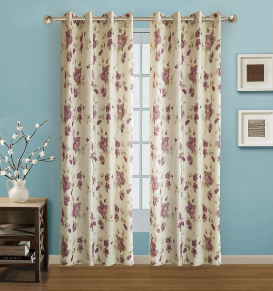 "Arabella Grommet Panel 84"" - 054x084 Plum C42676- Marburn Curtains"