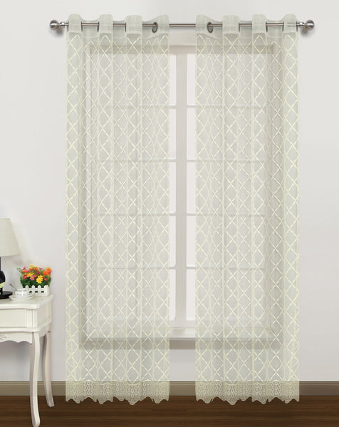 Arbor II Grommet Panel - 052x084   Beige- Marburn Curtains