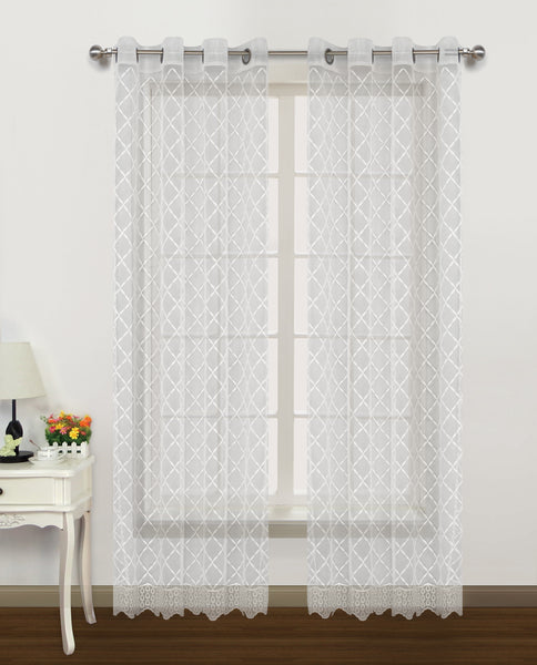 Arbor II Grommet Panel - 052x084   White- Marburn Curtains