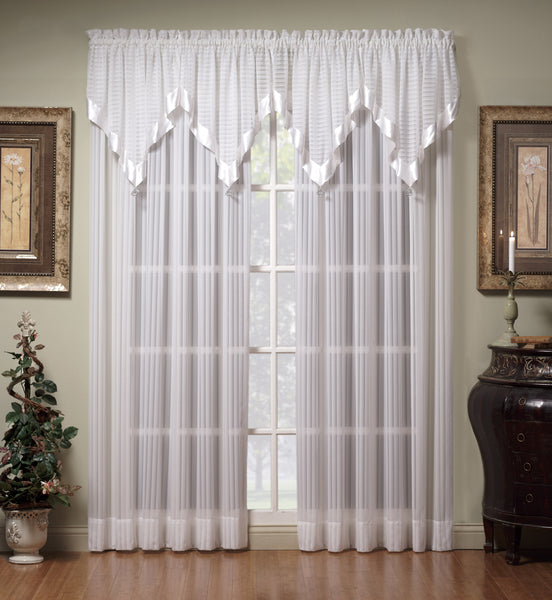 Silhouette Sheer Rod Pocket Ascot Valance - - Marburn Curtains