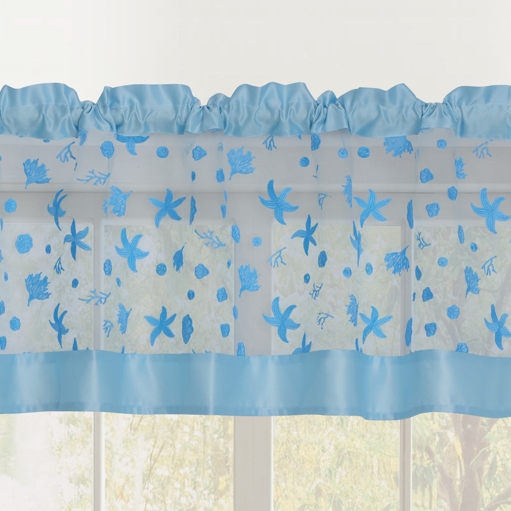 Beaches Rod Pocket Valance