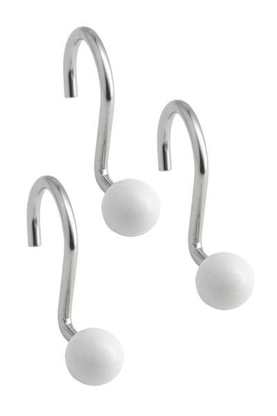 Shower Hooks Ball - White C38626- Marburn Curtains