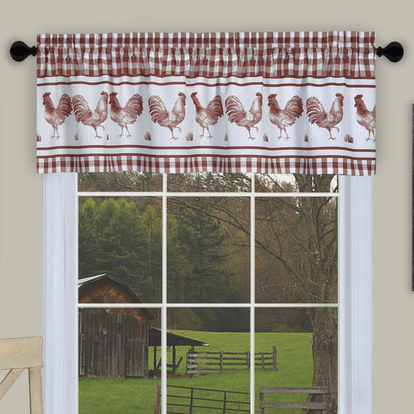 Barnyard Rod Pocket Tier&Valance Set - - Marburn Curtains