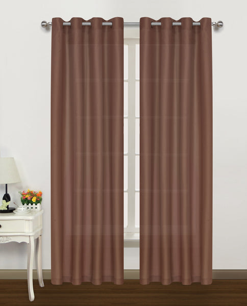 "Belair Grommet Panel 84"" - 050x084   Brick  C42912- Marburn Curtains"