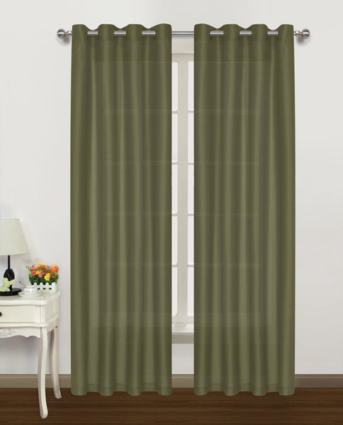 "Belair Grommet Panel 84"" - 050x084   Sage  C42910- Marburn Curtains"