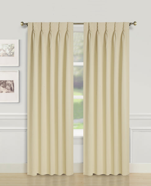 Blackwell Pinch Pleat Blackout Panel - 027x063 Beige C43591- Marburn Curtains