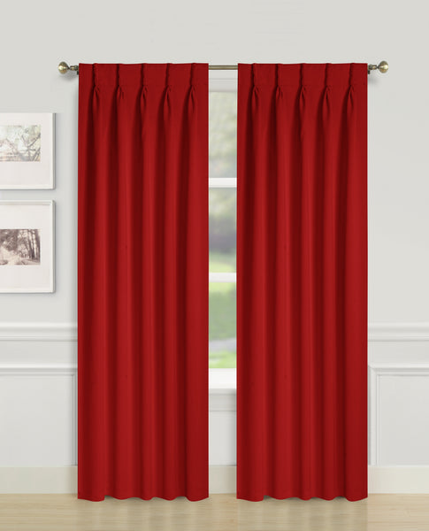 Blackwell Pinch Pleat Blackout Panel - 027x063 Burgundy C43593- Marburn Curtains