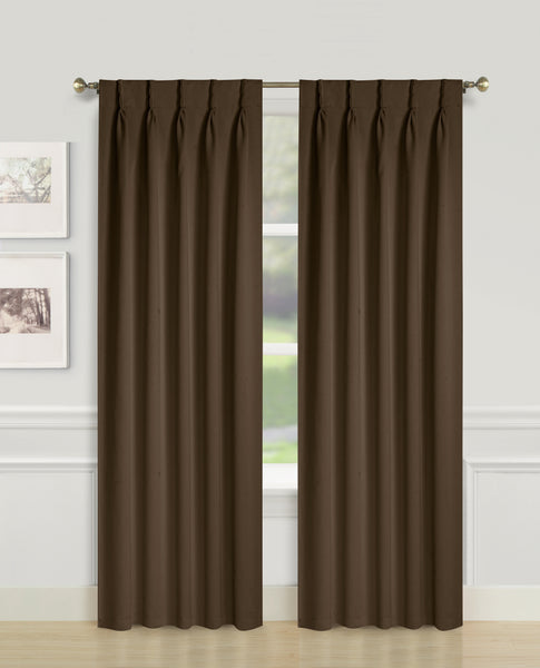 Blackwell Pinch Pleat Blackout Panel - 027x063 Chocolate C43594- Marburn Curtains
