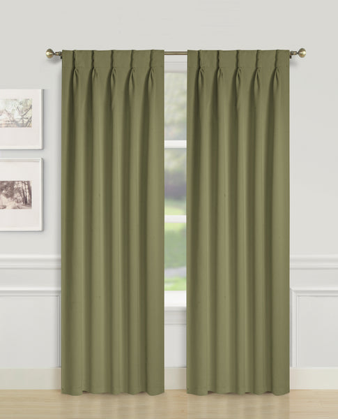 Blackwell Pinch Pleat Blackout Panel - 027x063 Sage C43597- Marburn Curtains