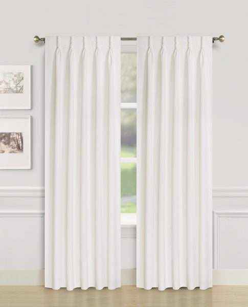 Blackwell Pinch Pleat Blackout Panel - 027x063 White C43598- Marburn Curtains