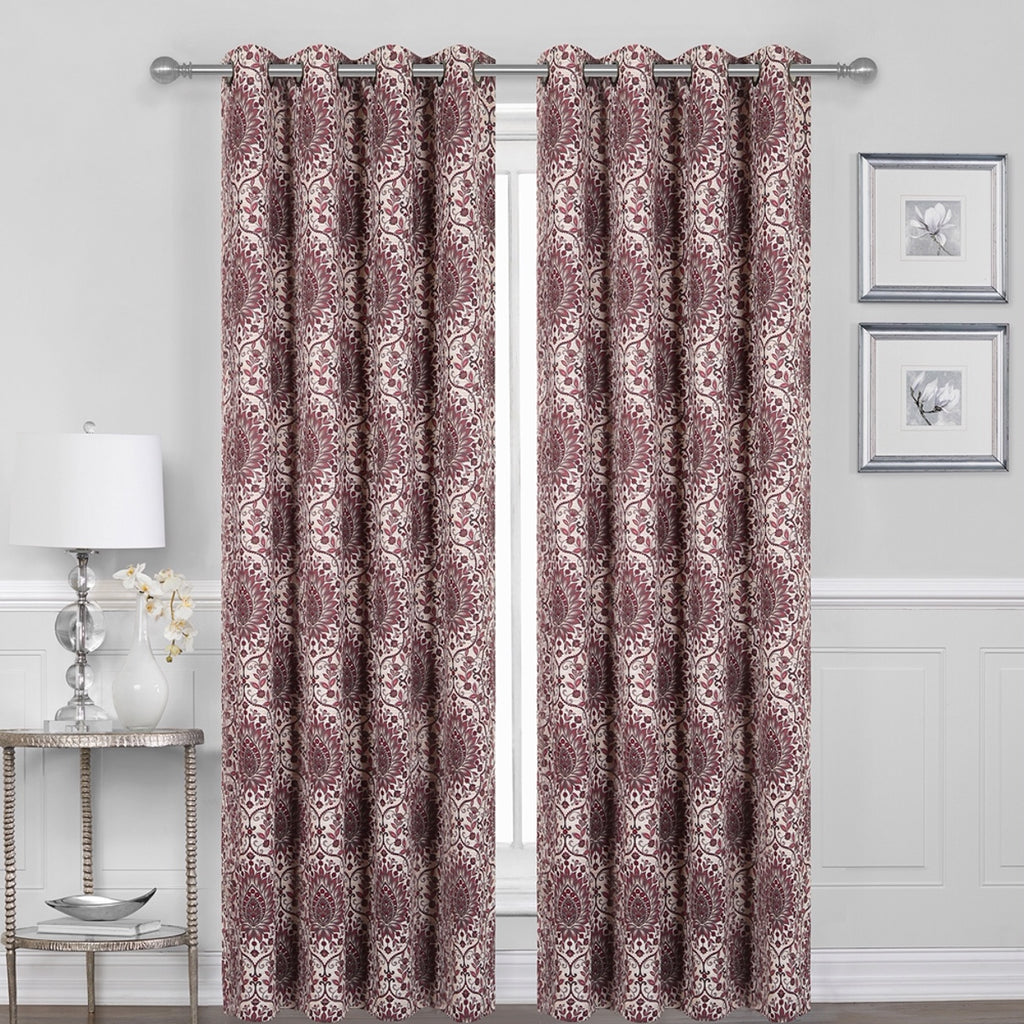 "Britton Grommet Blackout Curtain Panel 84"" 052x084   Rose  C44687"