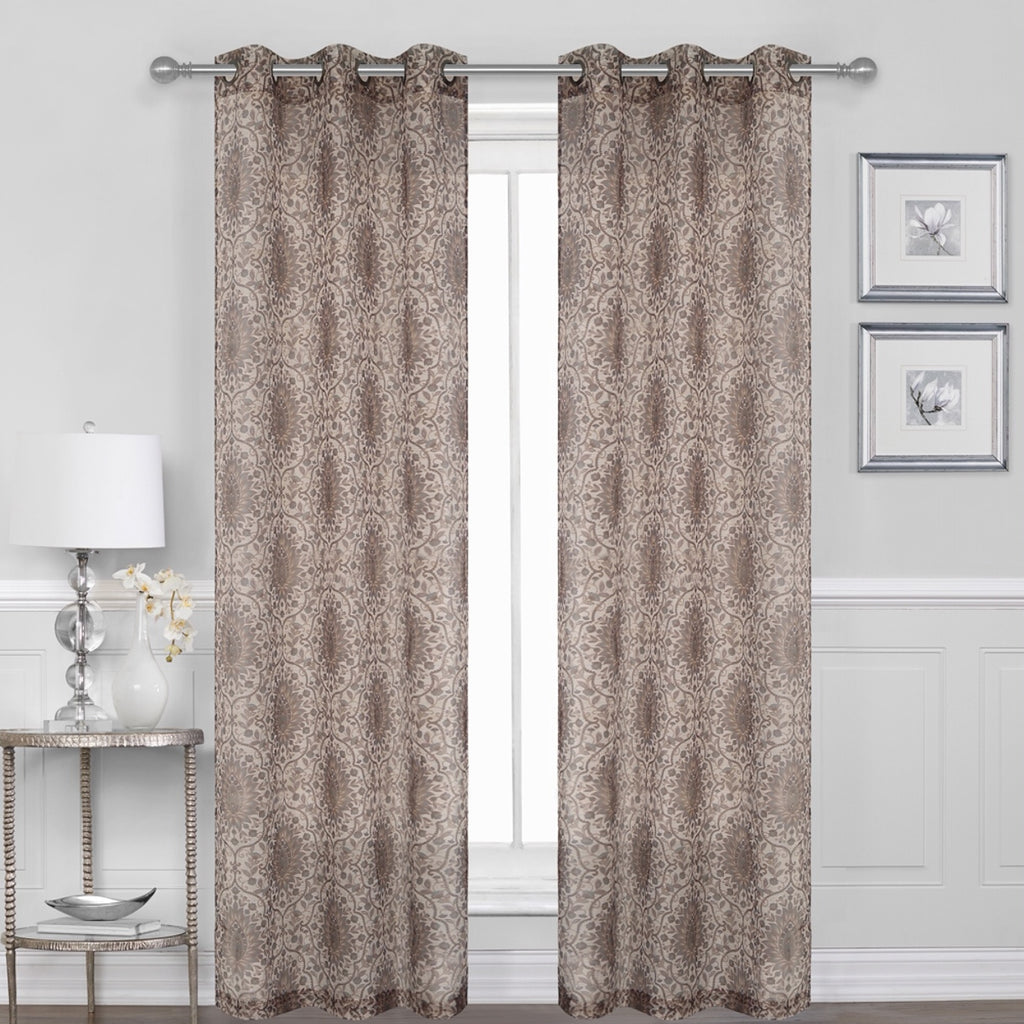 Britton Sheer Curtain Panel PAIR  84""