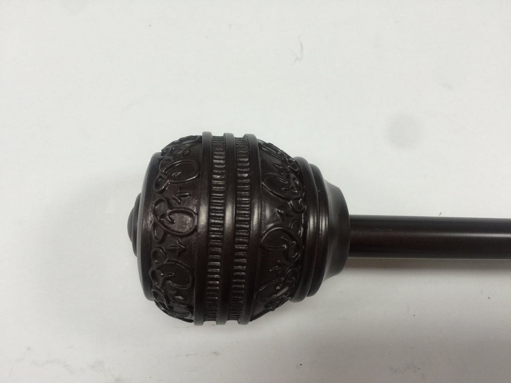 Brussels Decorative Curtain Rod Set 1/2""