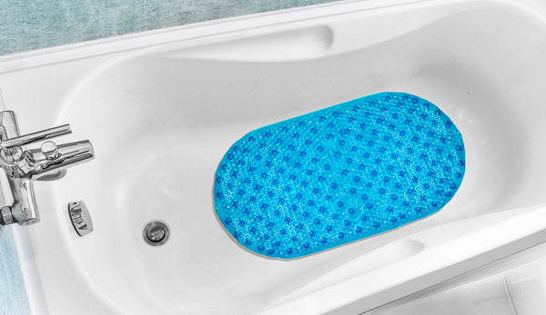 Bubble Tub Mat - 15.5x027 Turquoise C38326- Marburn Curtains