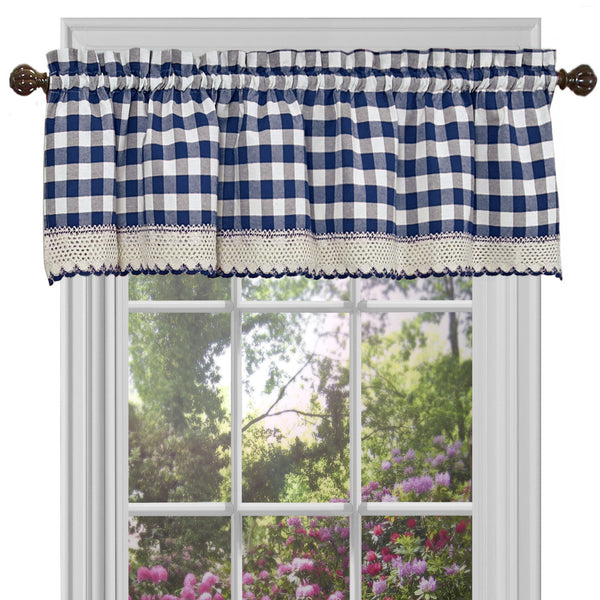 Buffalo Check Rod Pocket Valance - - Marburn Curtains