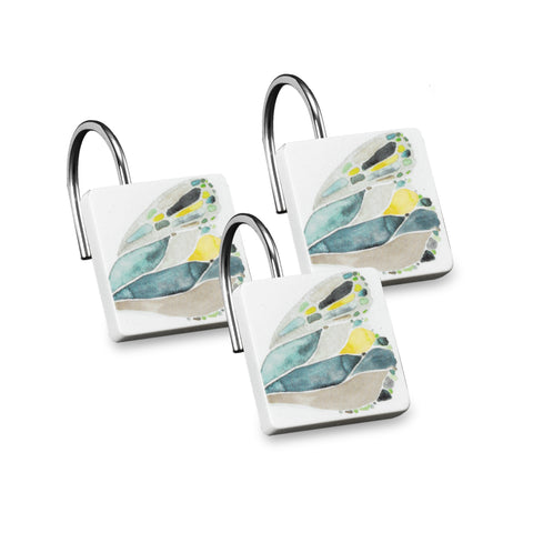 Butterfly Bath Collection Resin Shower Hooks - Shower Hooks  Yellow C40366- Marburn Curtains
