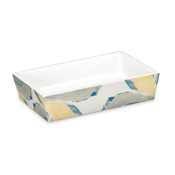 Butterfly Bath Collection Resin Soap Dish - Soap Dish  Yellow C40372- Marburn Curtains