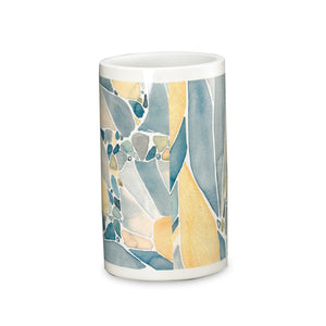 Butterfly Bath Collection Resin Tumbler - Tumbler   Yellow C40370- Marburn Curtains
