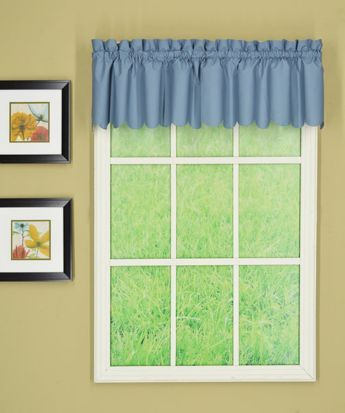 Orleans Rod Pocket Tier / Swag / Valance - Valance 060x012 Blue C31940- Marburn Curtains