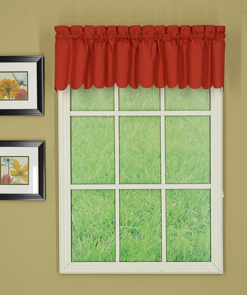 Orleans Rod Pocket Tier / Swag / Valance - Valance 060x012 Brick C31941- Marburn Curtains