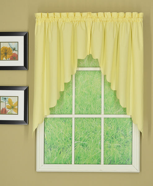 Orleans Rod Pocket Tier / Swag / Valance - Swag 060x038 Buttercup C31981- Marburn Curtains